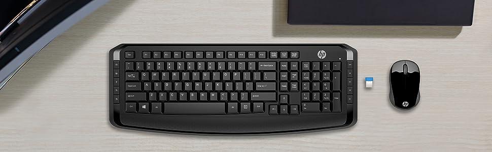 HP 300 - Teclado y ratón inalámbricos, color negro: Hp ...