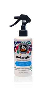 SoCozy Detangler amp; Leave-in Conditioner STRENGTHENS + SOFTENS: Works in seconds - no tugging