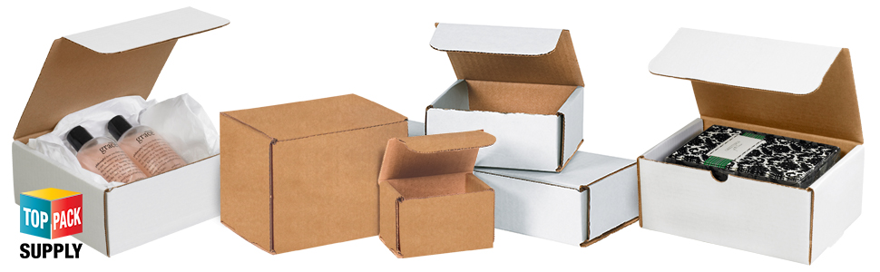 9X6X5 WHITE CORRUGATED MAILERS MANY SIZES SHIPPING PACKING BOXES MAILERS BOX