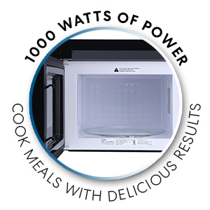 Cosmo COS-2413ORM1SS Over The Range Microwave Oven with Vent Fan ft Capacity Touch Presets 24 inch Black//Stainless Steel 1000W /& 1.34 cu Sensor Cook and Reheat 10 Power Levels