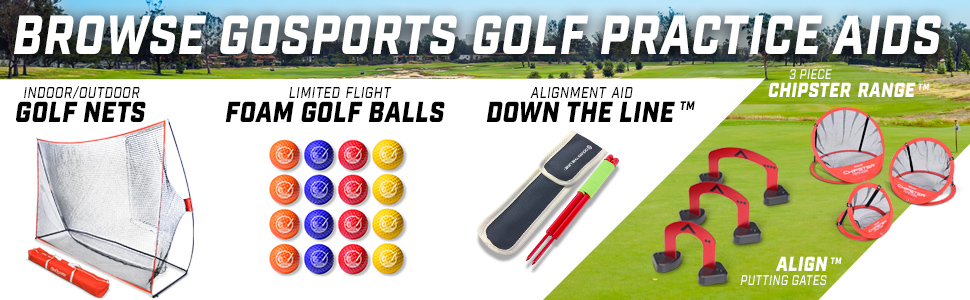 gosports golf training practice aids portable home golfer gifts father's day chipping putting games
