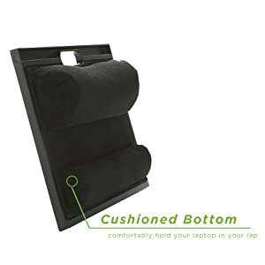 Lap desk with cushioned bottom