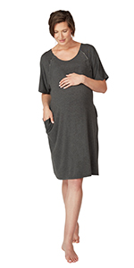 hospital gown for labor and delivery;labor and delivery gown;delivery gown;nursing nightgown;materni