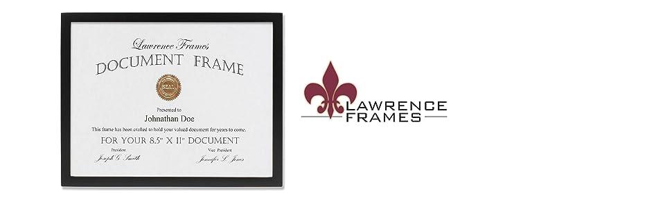 black wood 85 x 11 document frame - Document Frame