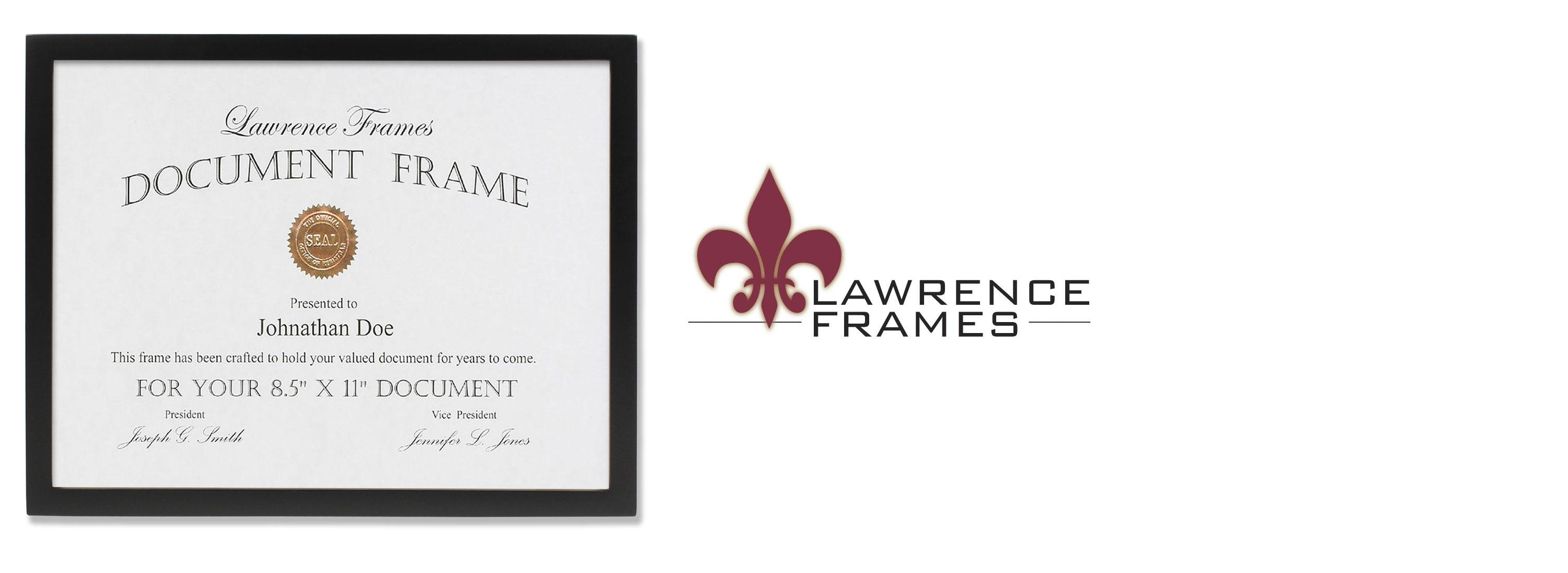 Lawrence Frames Black Wood Certificate Picture Frame, Gallery ...