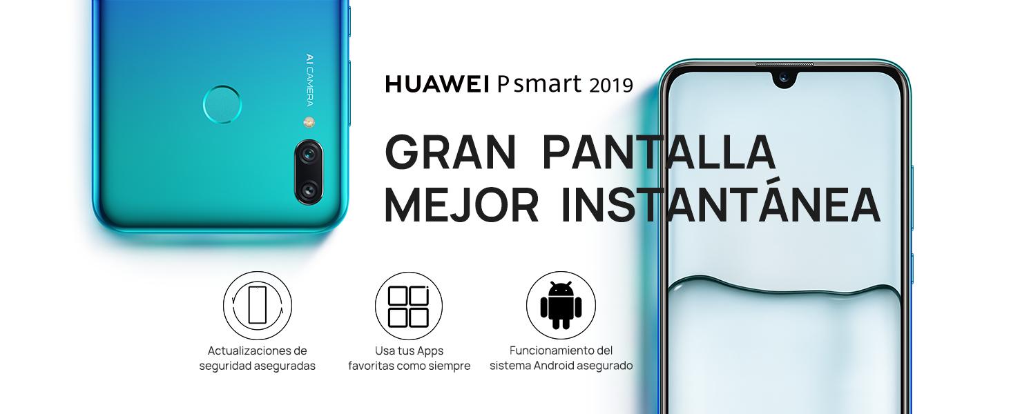 """Huawei P Smart 2019 de 6.2"""", 3 GB RAM, 64 GB, 13 MP + 2 MP"""