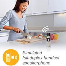 aimulated full duplex handset speakerphone