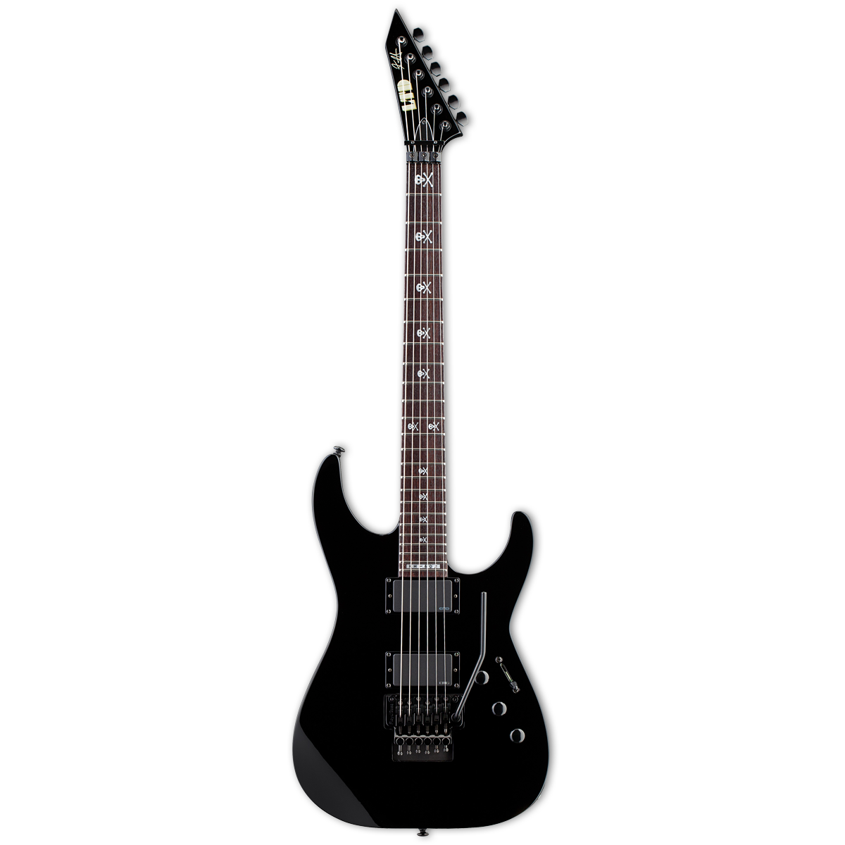esp ltd kh602 kirk hammett electric guitar black musical instruments. Black Bedroom Furniture Sets. Home Design Ideas