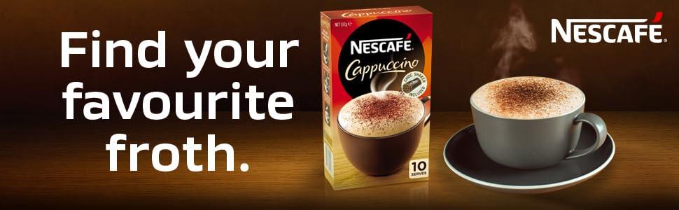 Nestle, NESCAFE, Coffee mixes, Nescafe cappucino, instant coffee, instant coffee sachets