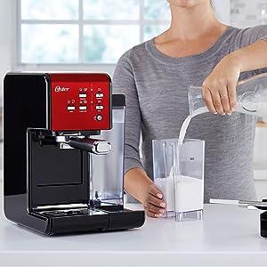 Oster Cafetera espresso Prima Latte II, con tratamiento de leche ...