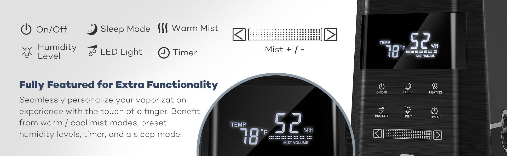 Taotronics ultrasonic humidifiers for bedroom for Bedroom 80 humidity