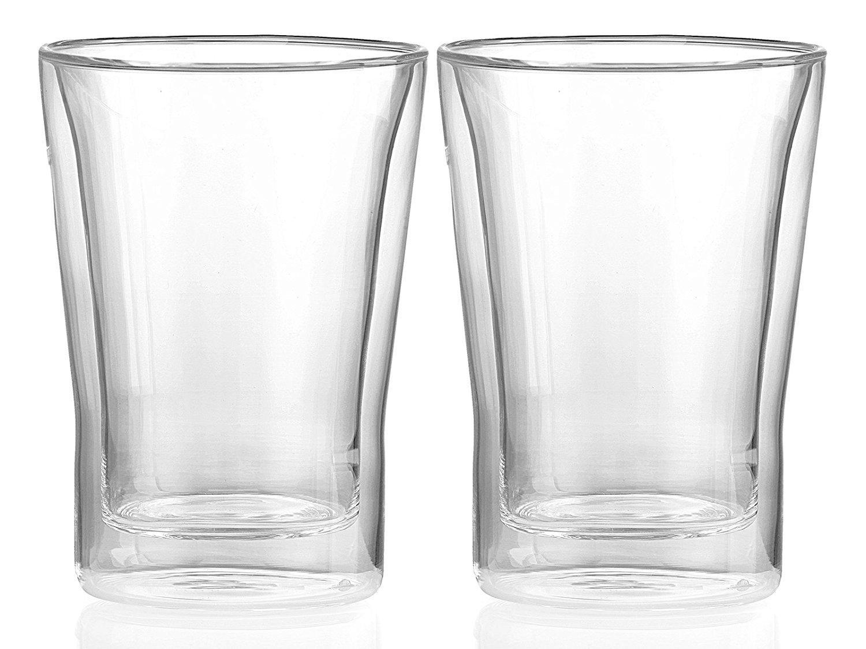 eadab7d88b0 Randwyck 'Laguna' Double-Walled Heat-Resistant Medium Glass Coffee Mugs  (250 ml)