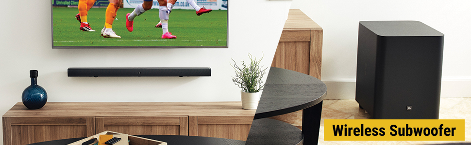 """Thrilling bass from a 10"""" (250mm) wireless subwoofer"""