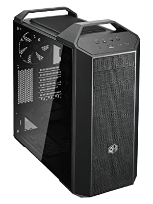 Cooler Master MasterCase MC500 Mid-Tower ATX Case w/Freeform Modular, Front Mesh Ventilation, Tempered Glass Side Panel, Carrying Handle & Cable ...