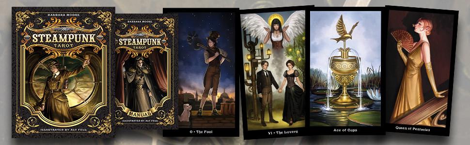 tarot, tarot decks, tarot cards, tarot kit, Barbara moore, Barbara moore tarot, steampunk