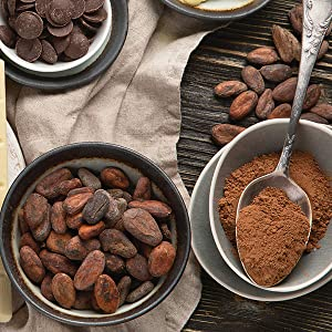 Granos De Cacao Crudo Ecológico Kevala 1lb Grocery Gourmet Food