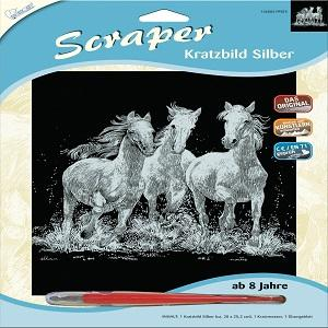 Mammut 140002 Kratzbild 3er Set Mondschein Je Ca 20 X 25 5 Cm
