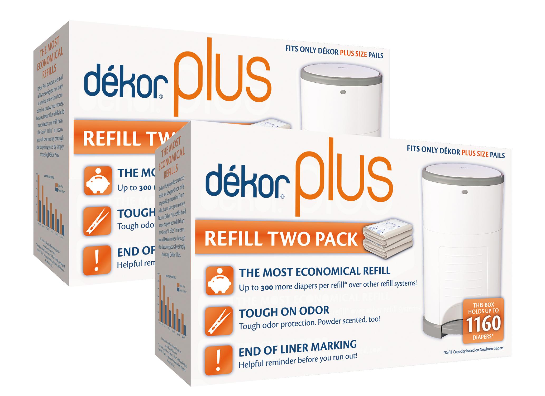 Diaper dekor plus diaper pail liner refills 4 count for Dekor mini diaper pail