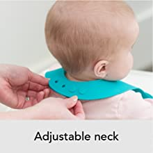adjustable, neck, bib, silicone, flexible, bella tunno, b corp, women owned, baby care, moms,
