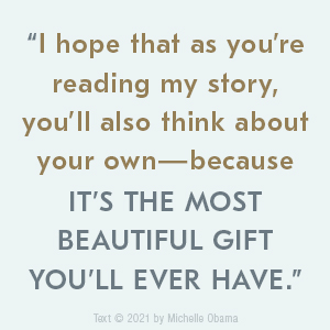 image with words  I hope that as you're reading my story, you'll also think about your own