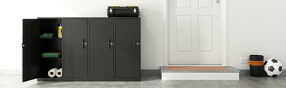 storage cabinet; garage storage; office storage; small storage cabinet