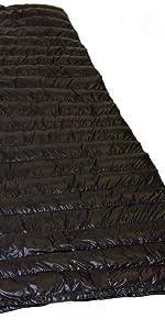 Rot 230x80 cm LOWLAND OUTDOOR/® Ranger Comfort Daunen Deckenschlafsack