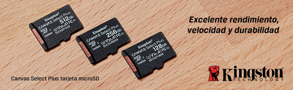 Kingston Canvas Select Plus Tarjeta microSD, SDCS2/512GB ...