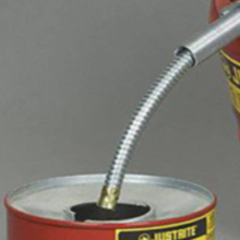 """9"""" hose, flame arrester, type II, safety cans, red"""