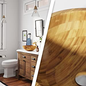 Bamboo is a natural plant; beautiful, durable, and resistant to moisture.