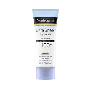 Neutrogena Ultra Sheer Dry-Touch Face and Body Sunscreen Lotion with Broad Spectrum SPF 100+