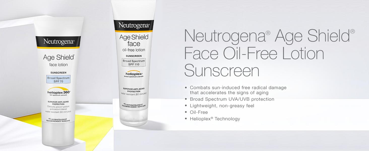Kết quả hình ảnh cho Neutrogena Age Shield Face oil free lotion SPF 110.