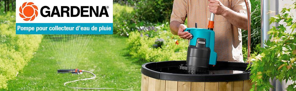 gardena pompe pour collecteur d 39 eau de pluie 4000 2 automatic comfort pompe immerg e d bit. Black Bedroom Furniture Sets. Home Design Ideas