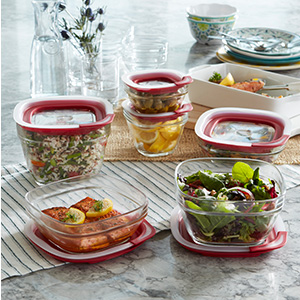 Great for keeping summer favorites fresh, these containers stack neatly in the fridge and freezer.