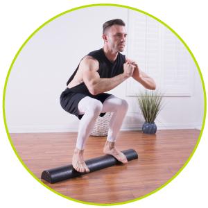 fitness foam roller, foam roller 36 inch, foam roller half, foam roller half round, foam roller half