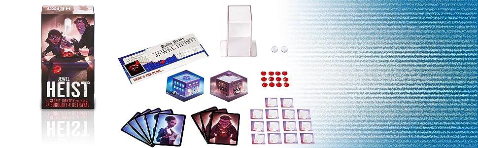 Mattel Games Jewel Heist, Juego de Mesa Familiar, 13 años (GKF58): Amazon.es: Juguetes y juegos