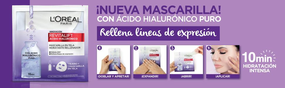 acido hialuronico, mascarilla, mascarillas faciales, mascarilla para las arrugas, hidratante