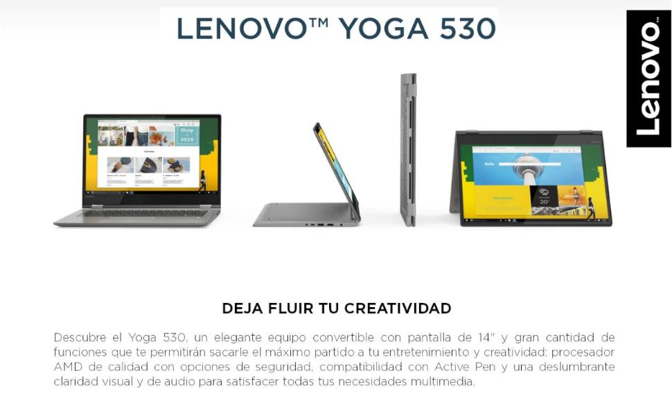 Lenovo Yoga 530-14ARR Portátil táctil Convertible de 14