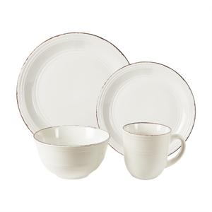 American Atelier 16-Piece Madelyn Dinnerware Set  sc 1 st  Amazon.com & Amazon.com: American Atelier 16 Piece Madelyn Dinnerware Set White ...