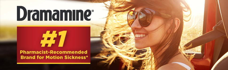 Dramamine is the #1 Pharmacist-Recommended Brand for Motion Sickness*