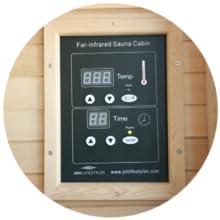 digital control panel, control panel, panel, infrared sauna