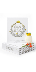 what do you do with an idea gift set book, idea plush