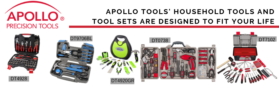 apollo tools household tools and tool sets, tool kits, basic tool sets, hammer set, wrench set