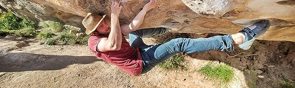 Jeanstrack Roca Pantalón de Escalada-Trekking, Hombre