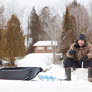 Trek 60 - Multi-Purpose Sled – Use it for Fishing, Hunting, Camping – 260lb  max Capacity – Made in Canada - Polyethylene Construction