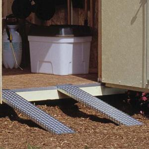 Amazon Com Handy Home Products Metal Shed Ramp Pair