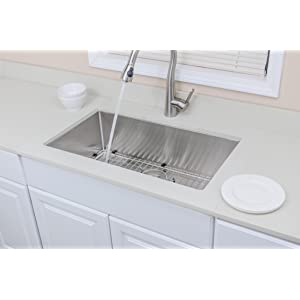 The Chefu0027s Collection Handcrafted Stainless Steel Sinks
