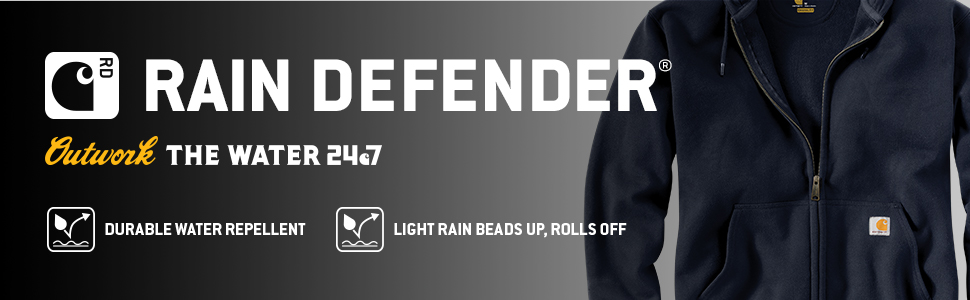 carhartt, mens, sweatshirts, water, resistant, work, workwear