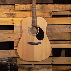 acoustic guitar, guitar pack, beginner guitar, good cheap guitar, spruce top, Jasmine, dreadnought
