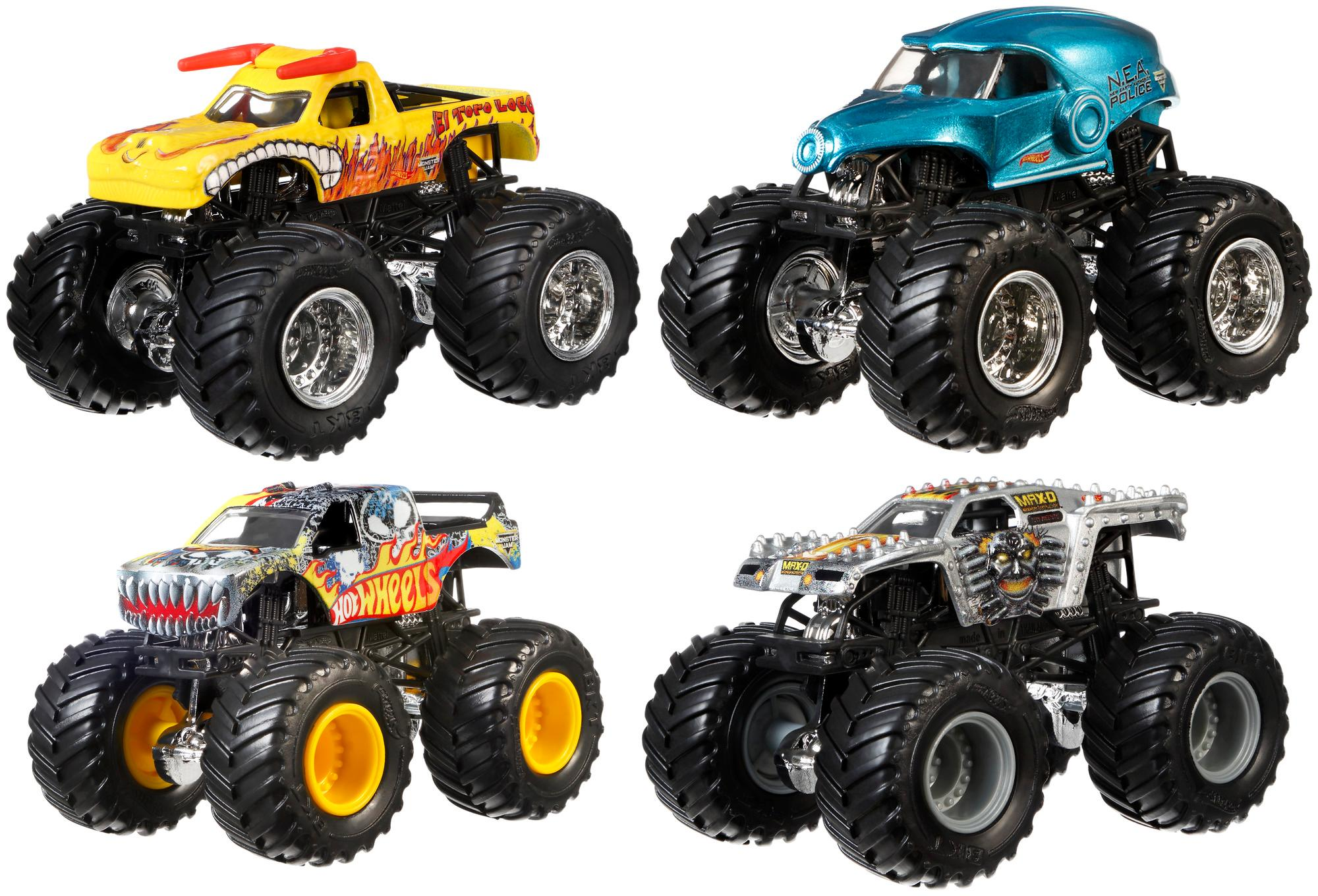 hot wheels monster jam tour favorites styles may vary toys games. Black Bedroom Furniture Sets. Home Design Ideas