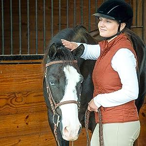 7-7 3//8 Black Velveteen Troxel Capriole Horseback Riding Helmet Medium